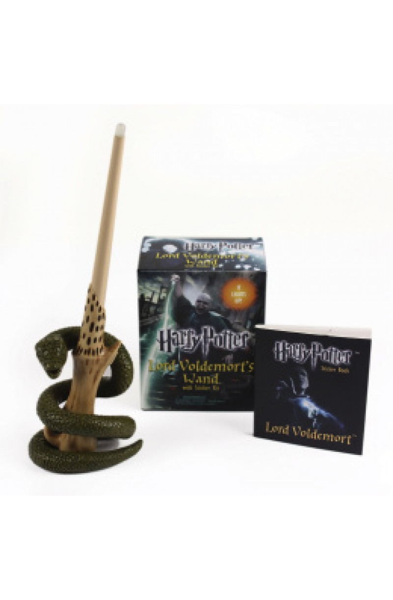Harry Potter: Lord Voldemort's Wand with Sticker Kit : Lights Up! (book+toy)